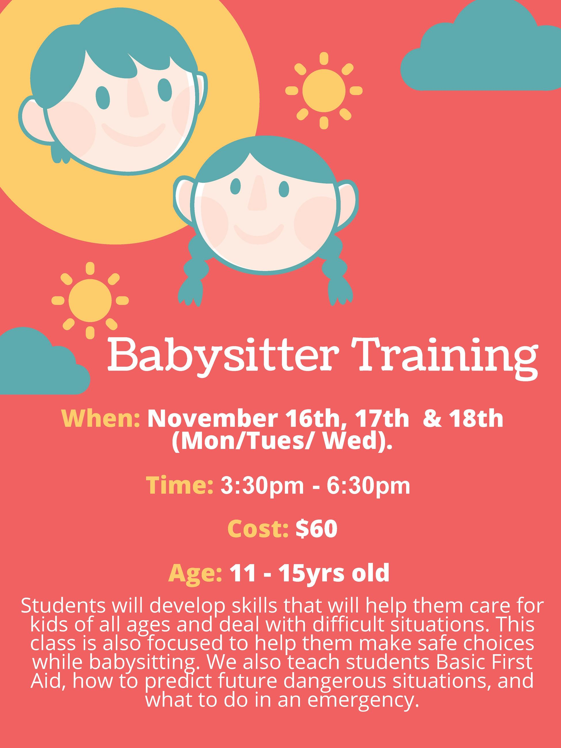 Babysitter Traning Course